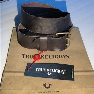 NWT TR leather belt mens